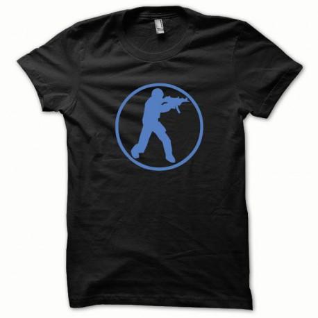 Tee shirt Counter Strike bleu/noir