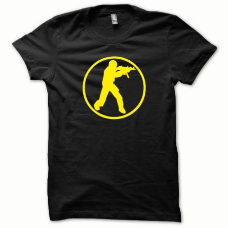Tee shirt Counter Strike jaune/noir