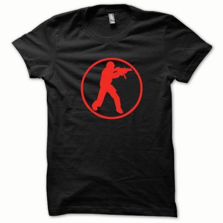 Tee shirt Counter Strike rouge/noir