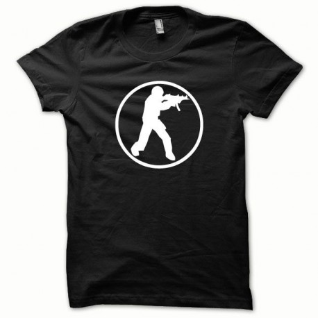 Tee shirt Counter Strike blanc/noir