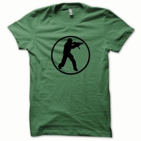 Tee shirt Counter Strike noir/vert bouteille