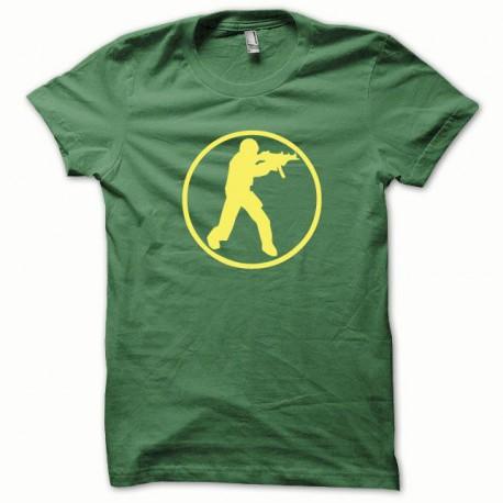 Tee shirt Counter Strike jaune/vert bouteille
