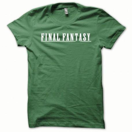 Tee shirt Final Fantasy blanc/vert bouteille