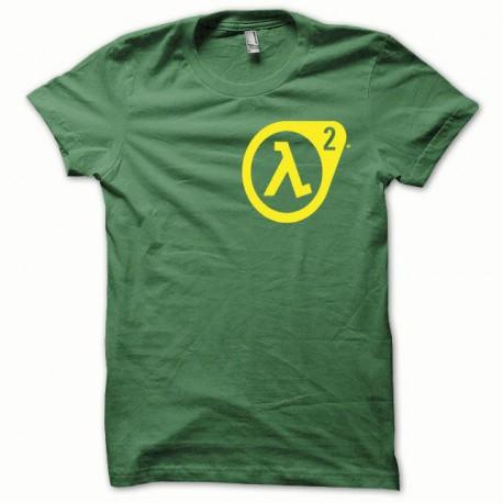 Tee shirt Half Life 2 jaune/vert bouteille