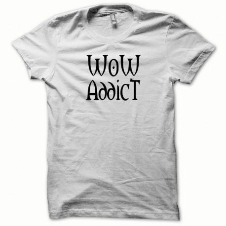 Tee shirt WoW Addict noir/blanc