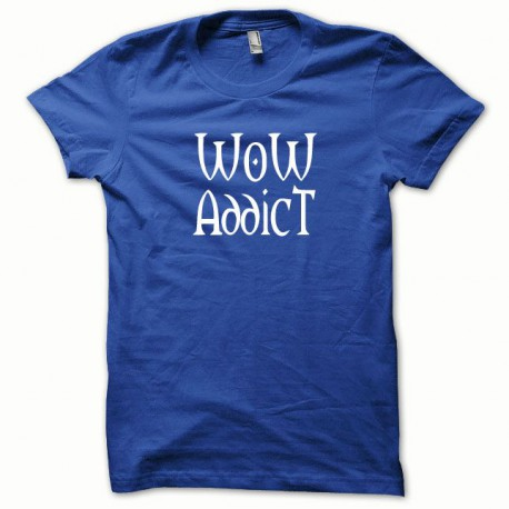Tee shirt WoW Addict blanc/bleu royal