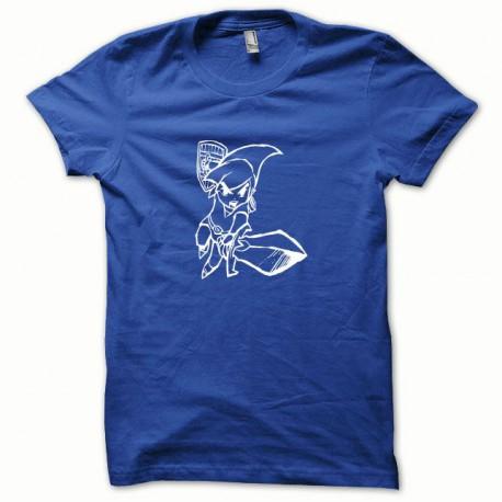 Tee shirt Link blanc/bleu royal