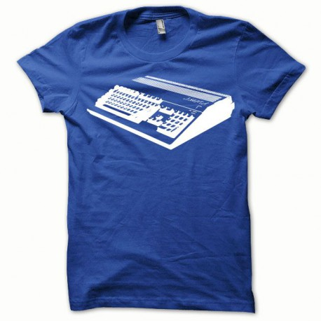 Tee shirt Amiga blanc/bleu royal