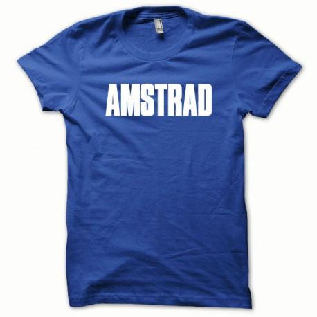 Tee shirt Amstrad blanc/bleu royal