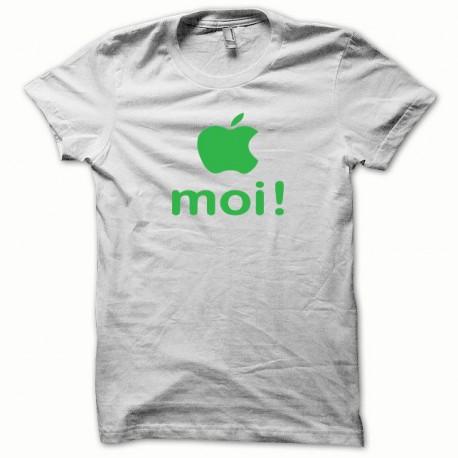 Tee shirt Apple moi vert/blanc