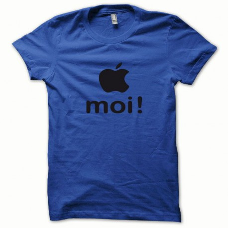 Tee shirt Apple moi noir/bleu royal