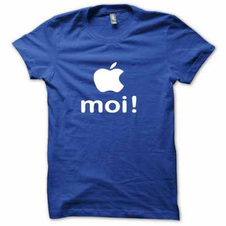 Tee shirt Apple moi blanc/bleu royal