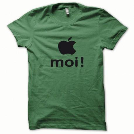 Tee shirt Apple moi noir/vert bouteille