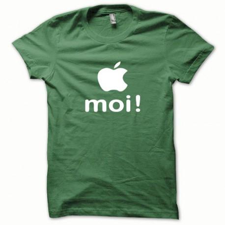 Tee shirt Apple moi blanc/vert bouteille