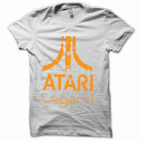 Tee shirt Atari Legend orange/blanc