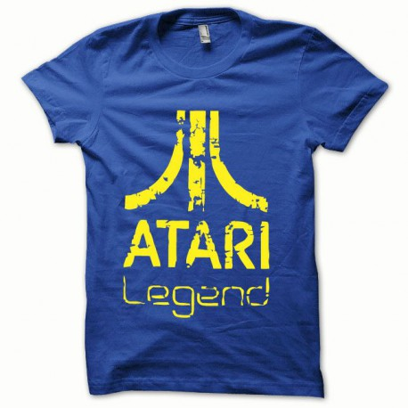 Tee shirt Atari Legend jaune/bleu royal