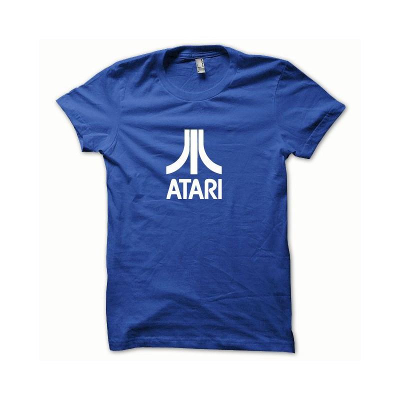 T shirt atari ocean white royal blue for Ocean blue t shirt