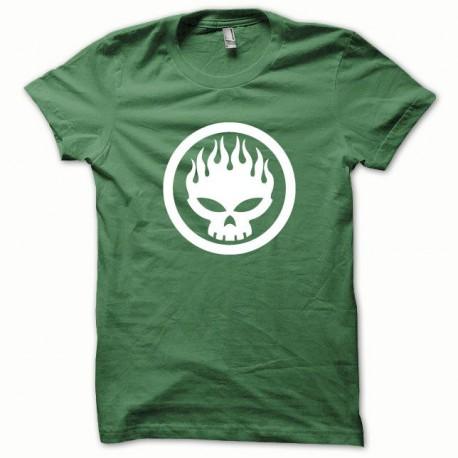 Tee shirt Offspring blanc/vert bouteille