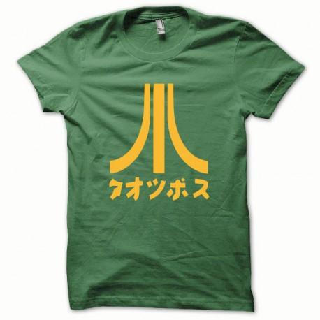 Tee shirt Atari Japon orange/vert bouteille