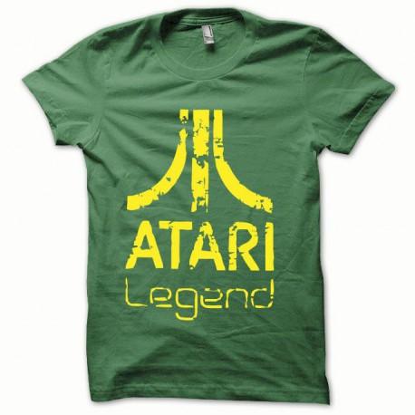 Tee shirt Atari Legend jaune/vert bouteille