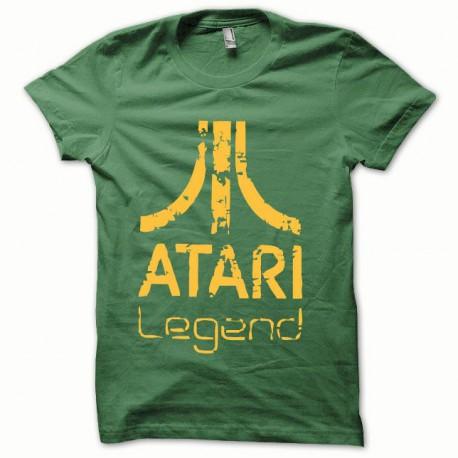 Tee shirt Atari Legend orange/vert bouteille
