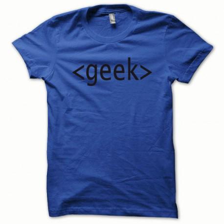 Tee shirt GEEK noir/bleu royal