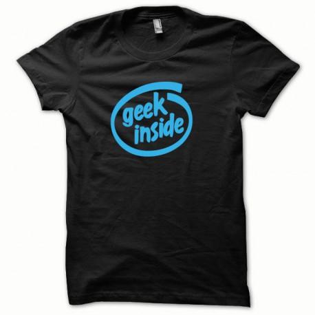 Tee shirt GEEK Inside bleu/noir