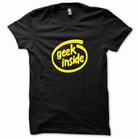Tee shirt GEEK Inside jaune/noir