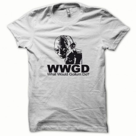 Tee shirt Gollum noir/blanc