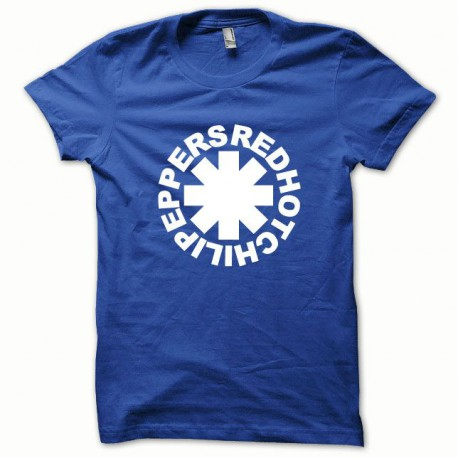 Tee shirt Red Hot Chili Peppers blanc/bleu royal