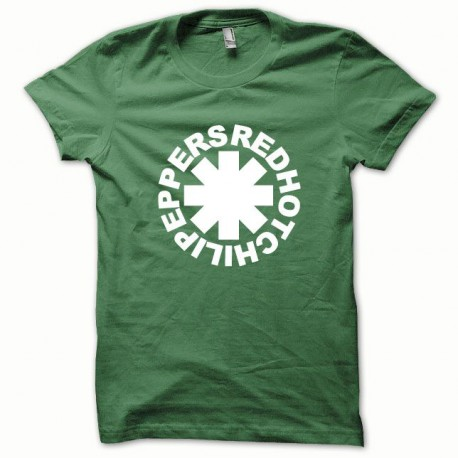 Tee shirt Red Hot Chili Peppers blanc/vert bouteille