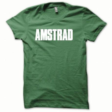Tee shirt Amstrad blanc/vert bouteille