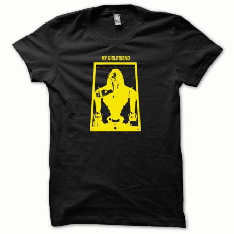 Tee shirt My Girlfriend Cylon jaune/noir