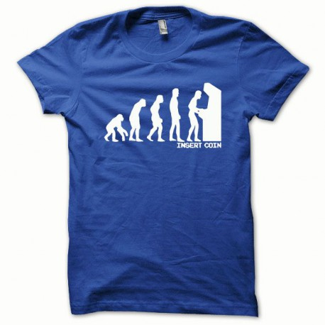 Tee shirt Evolution Insert coin blanc/bleu royal