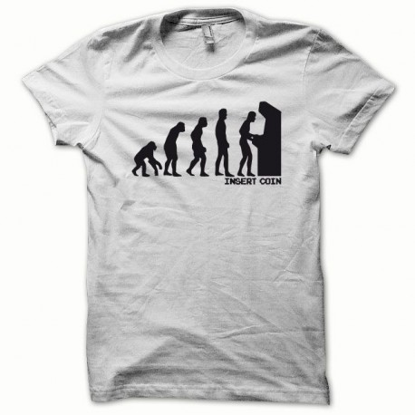 Tee shirt Evolution Insert coin noir/blanc