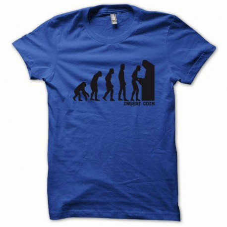 Tee shirt Evolution Insert coin noir/bleu royal