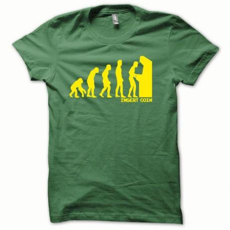 Tee shirt Evolution Insert coin jaune/vert bouteille