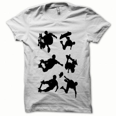 Tee shirt Skate noir/blanc