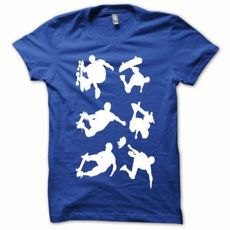 Tee shirt Skate blanc/bleu royal