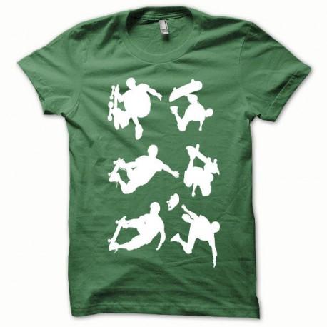 Tee shirt Skate blanc/vert bouteille