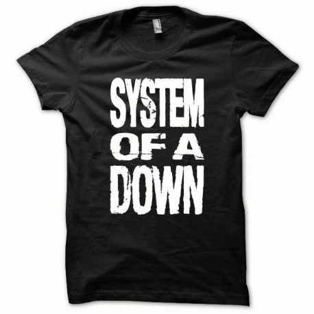 Tee shirt System of a Down blanc/noir