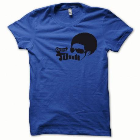 Tee shirt Afro Funk noir/bleu royal