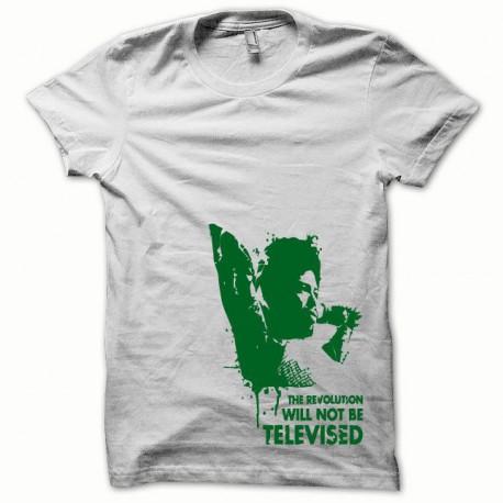 Tee shirt Afro Revolution vert/blanc
