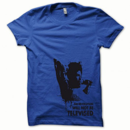 Tee shirt Afro Revolution noir/bleu royal