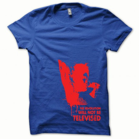 Tee shirt Afro Revolution rouge/bleu royal