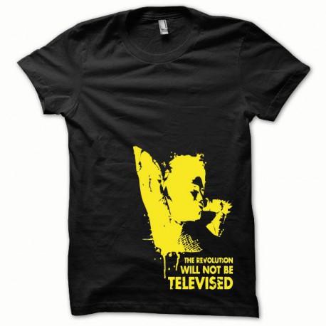 Tee shirt Afro Revolution jaune/noir