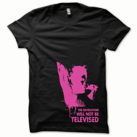 Tee shirt Afro Revolution rose/noir