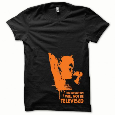 Tee shirt Afro Revolution orange/noir