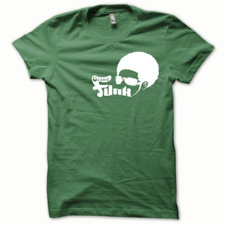 Tee shirt Afro Funk blanc/vert bouteille