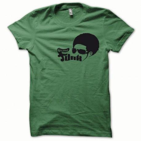 Tee shirt Afro Funk noir/vert bouteille